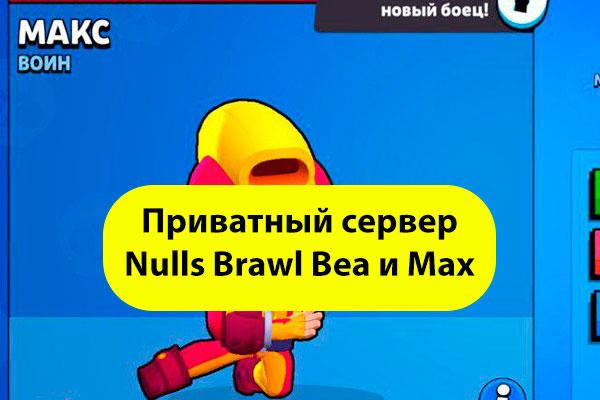 Приватный сервер Nulls Brawl Stars с Беа и Макс
